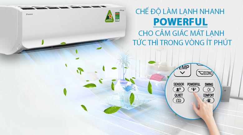 Làm lạnh nhanh - Máy lạnh Daikin Inverter 2 HP FTKC50UVMV