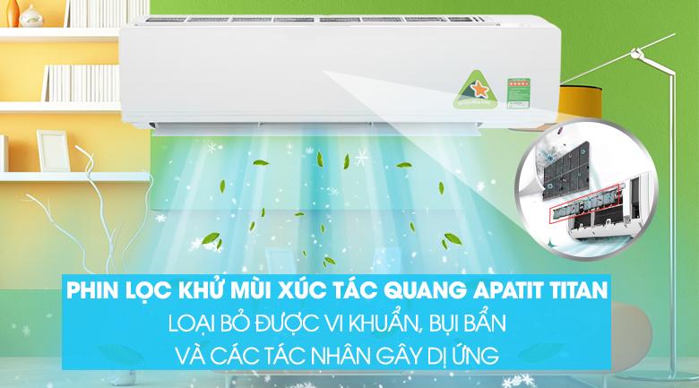 Phin lọc khử mùi xúc tác quang Apatit Titan - Máy lạnh Daikin Inverter 2.5 HP FTKC60UVMV
