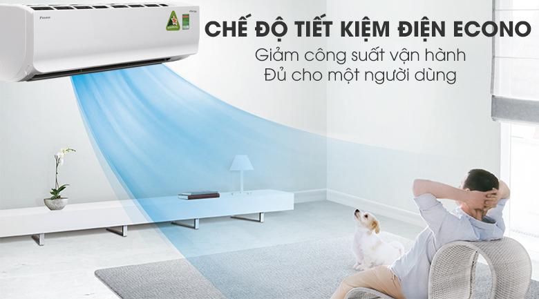 Tính năng Econo - Máy lạnh Daikin Inverter 2.5 HP FTKC60UVMV