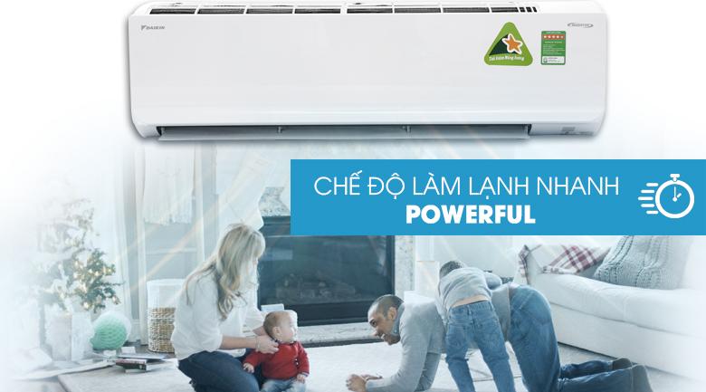 Chế độ Powerful - Máy lạnh Daikin Inverter 2.5 HP FTKC60UVMV