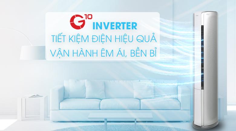 G10 Inverter - Máy lạnh tủ đứng Gree Inverter 2.5 HP GVH24AK-K3DNC6A