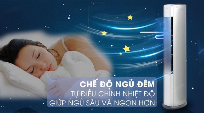 Chế độ ngủ đêm - Máy lạnh tủ đứng Gree Inverter 2.5 HP GVH24AK-K3DNC6A