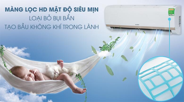 Máy lạnh Comfee Inverter 1.5 HP SIRIUS-12ED-Luồng gió tinh khiết nhờ màng lưới lọc mật độ siêu mịn