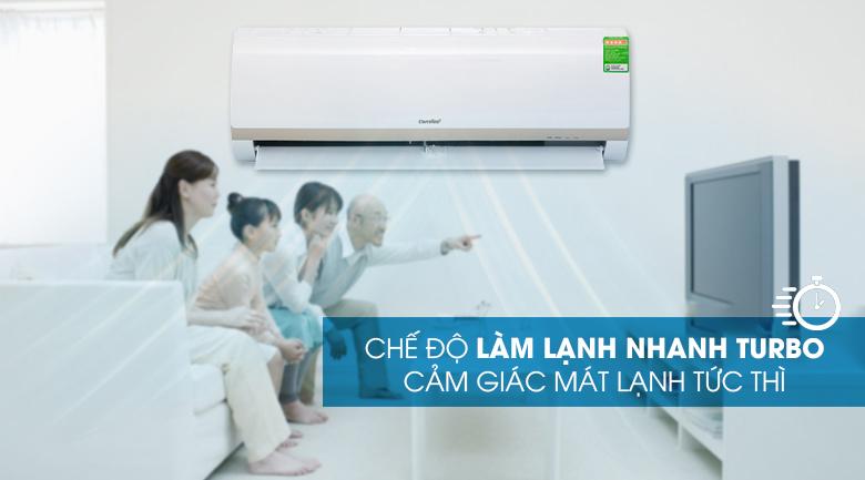 Máy lạnh Comfee Inverter 1.5 HP SIRIUS-12ED-Làm lạnh nhanh cùng chức năng Turbo