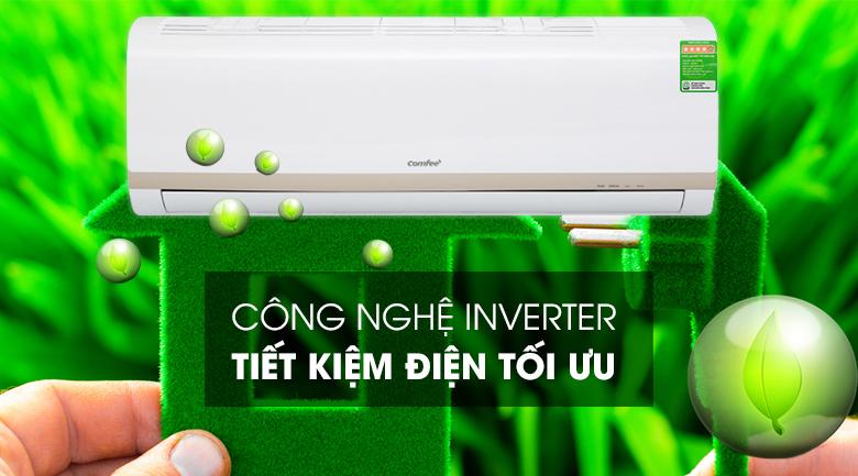 Máy lạnh Comfee Inverter 1.5 HP SIRIUS-12ED-Sử dụng điện hiệu quả nhờ công nghệ Inverter