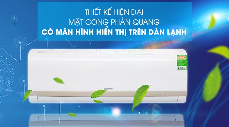 Máy lạnh Comfee Inverter 1.5 HP SIRIUS-12ED-Thiết kế hiện đại, mặt cong phản quang