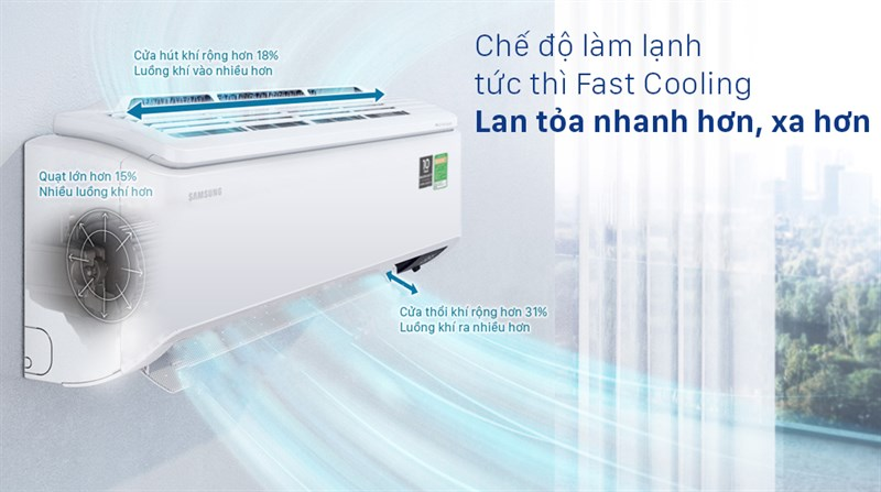 Máy lạnh Samsung Inverter 1 HP AR10TYHYCWKNSV - Fast Cooling
