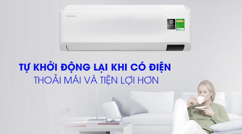 Máy lạnh Samsung Inverter 1 HP AR10TYHYCWKNSV-Tiện lợi cùng chế độ tự khởi động lại khi có điện