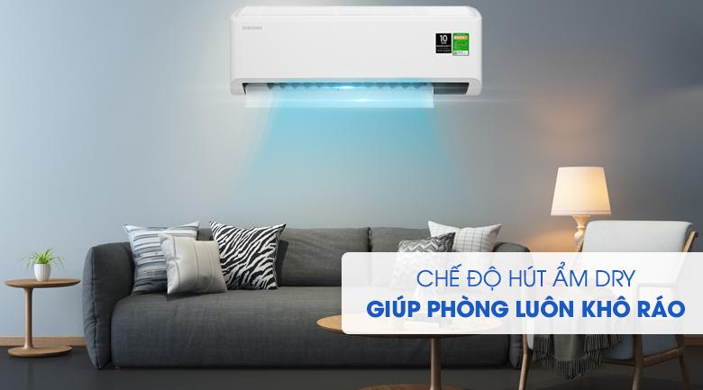 Máy lạnh Samsung Inverter 1 HP AR10TYHYCWKNSV-Mang lại không gian thoáng đãng, thoải mái với chế độ hút ẩm