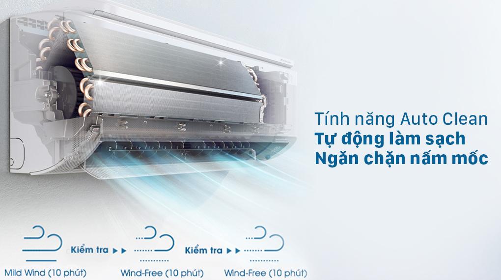 Máy lạnh Samsung AR10TYHYCWKNSV - Auto Clean