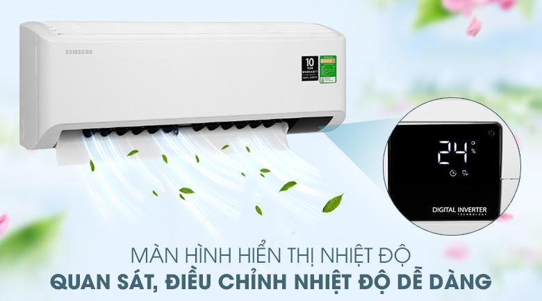Máy lạnh Samsung Inverter 1 HP AR10TYHYCWKNSV - Màn hình hiển thị nhiệt độ