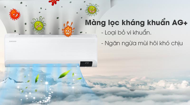 Máy lạnh Samsung Inverter 1 HP AR10TYHYCWKNSV-Loại bỏ vi khuẩn, mùi hôi khó chịu với màng lọc kháng khuẩn Ag+