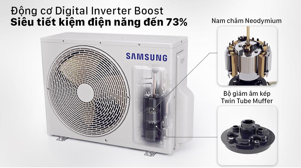 Máy lạnh Samsung AR13TYHYCWKNSV - Siêu tiết kiệm điện đến 73% nhờ công nghệ Inverter