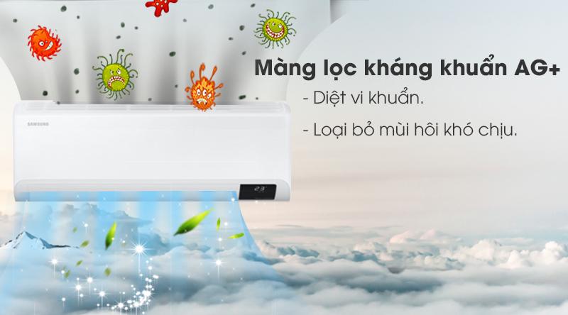 Máy lạnh Samsung Inverter 1.5 HP AR13TYHYCWKNSV -Diệt khuẩn, loại bỏ mùi hôi khó chịu nhờ màng lọc kháng khuẩn Ag+