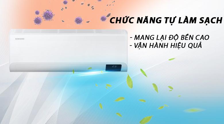 Máy lạnh Samsung Inverter 12000 BTU AR13TYHYCWKNSV -Độ bền máy cao, vận hành hiệu quả nhờ chức năng tự làm sạch