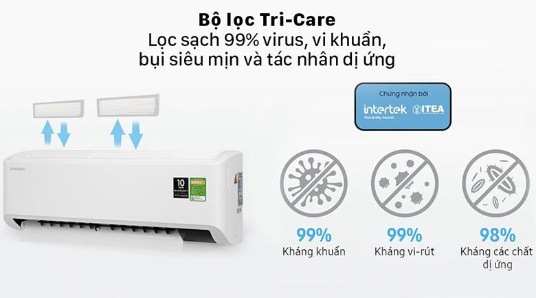 Máy lạnh Samsung Inverter 1.5 HP AR13TYHYCWKNSV - Bộ lọc Tri-Care