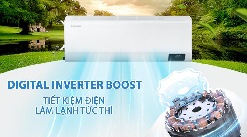 Máy lạnh Samsung Inverter 18000 BTU AR18TYHYCWKNSV-Tiết kiệm điện, làm lạnh tức thì nhờ Digital Inverter Boost