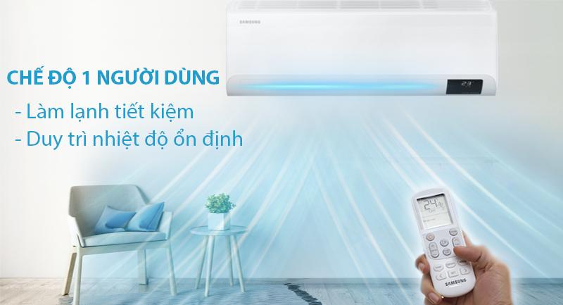 Máy lạnh Samsung Inverter 18000 BTU AR18TYHYCWKNSV-Làm lạnh tiết kiệm, duy trì nhiệt độ ổn định với chế độ một người dùng