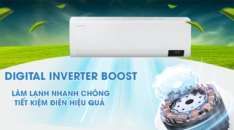 Máy lạnh Samsung Wind-Free Inverter 1 HP AR10TYAACWKNSV-Làm lạnh nhanh chóng, tiết kiệm điện hiệu quả nhờ Digital Inverter Boost