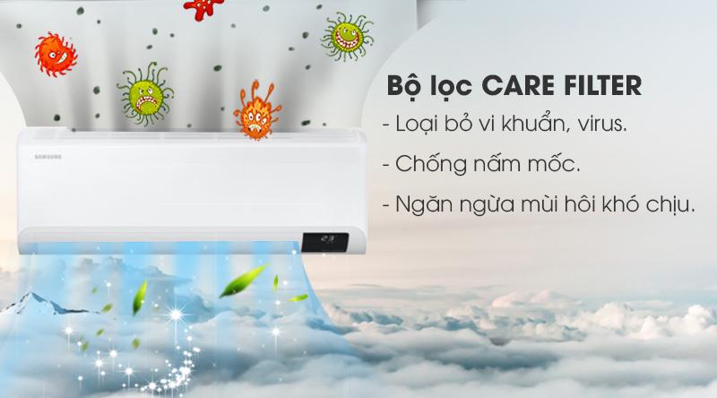 Máy lạnh Samsung Wind-Free Inverter 1 HP AR10TYAACWKNSV-Kháng khuẩn, chống nấm mốc với bộ lọc Care Filter