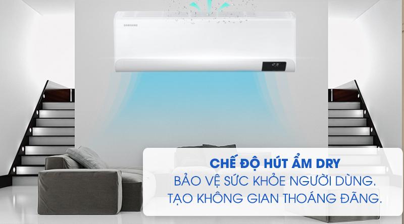 Máy lạnh Samsung Wind-Free Inverter 1 HP AR10TYAACWKNSV-Bảo vệ sức khỏe, tạo không gian thoáng đãng cùng chế độ hút ẩm