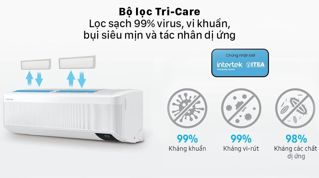 Máy lạnh Samsung Wind-Free Inverter 2 HP AR18TYGCDWKNSV - Bộ lọc Tri-Care