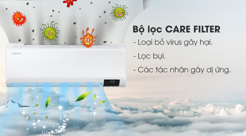 Máy lạnh Samsung Wind-Free Inverter 2.5 HP AR24TYGCDWKNSV-Loại bỏ virus gây hại, các tác nhân gây dị ứng với nhờ bộ lọc bụi bẩn Care Filter