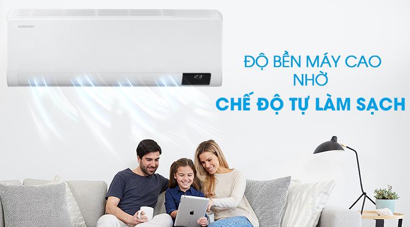 Máy lạnh Samsung Wind-Free Inverter 2.5 HP AR24TYGCDWKNSV-Độ bền máy cao nhờ chức năng tự làm sạch