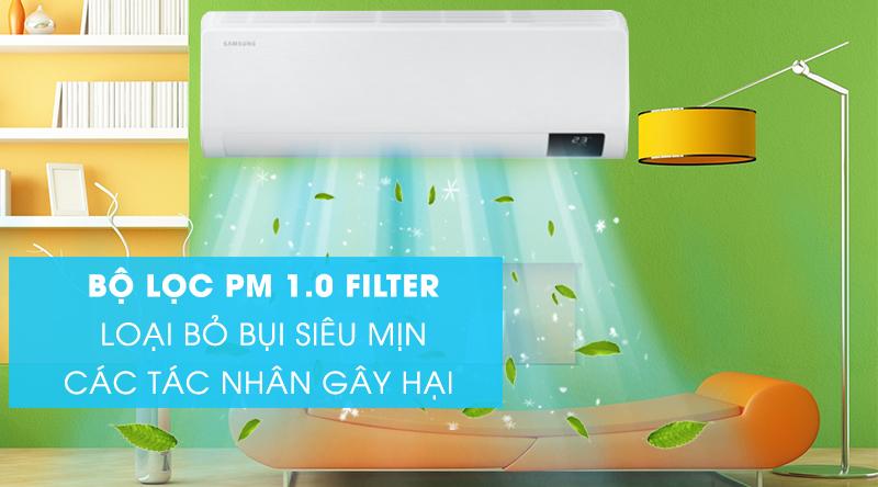 Máy lạnh Samsung Wind-Free Inverter 1.5 HP AR13TYAACWKNSV-Loại bỏ bụi siêu mịn và các tác nhân gây hại nhờ bộ lọc PM 1.0 Filter