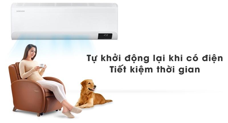 Máy lạnh Samsung Wind-Free Inverter 1.5 HP AR13TYAACWKNSV-Tiện lợi, tiết kiệm thời gian với khả năng tự khởi động lại khi có điện