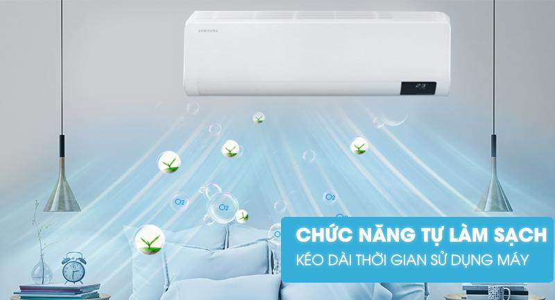 Máy lạnh Samsung Wind-Free Inverter 1.5 HP AR13TYAACWKNSV-Kéo dài thời gian sử dụng máy nhờ chức năng tự làm sạch