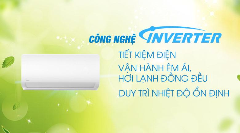 Máy lạnh Midea Inverter 1 HP MSAG-10CRDN8 - Công nghệ Inverter