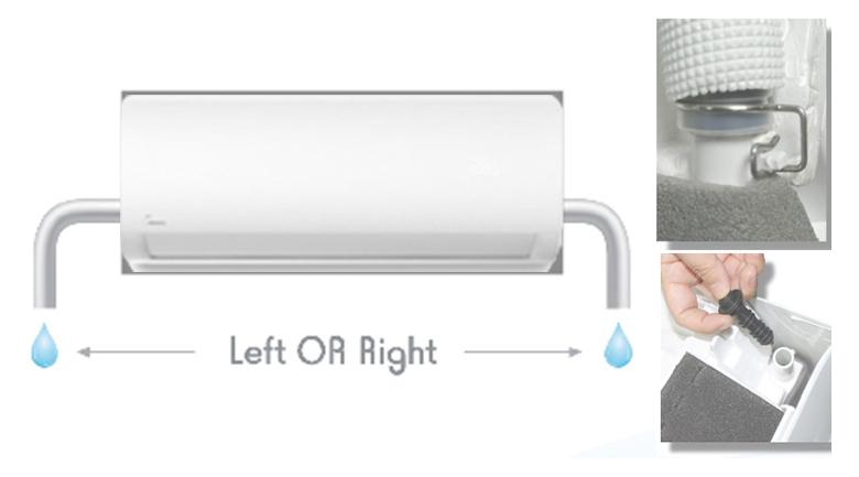 Máy lạnh Midea Inverter 1 HP MSAG-10CRDN8 Ống thoát nước
