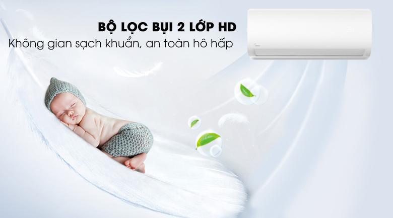 Máy lạnh Midea Inverter 1 HP MSAG-10CRDN8 Bộ lọc bụi 2 lớp HD
