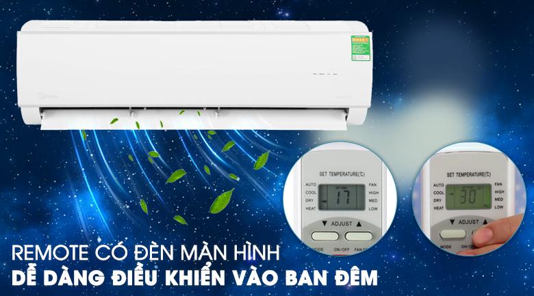 Máy lạnh Midea Inverter 2 HP MSAFA-18CRDN8 - Remote có đèn màn hình tiện lợi