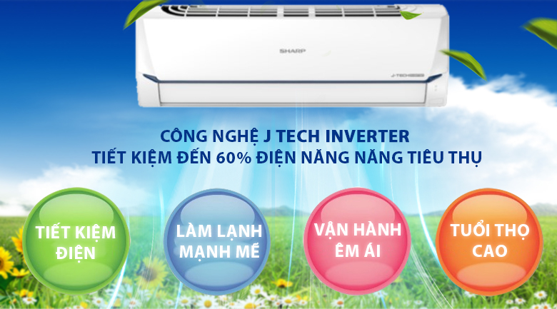 J-Tech Inverter-Máy lạnh Sharp AH-X9XEW