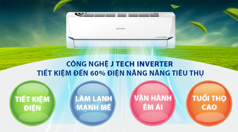 j-tech inverter-Máy lạnh Sharp AH-X12XEW