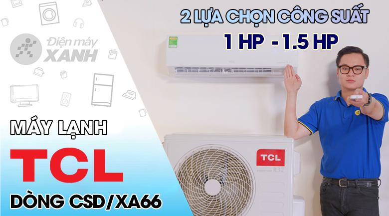 Máy lạnh TCL Inverter 1 HP TAC-10CSD/XA66