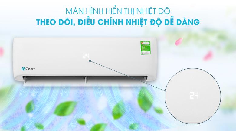 Máy lạnh Casper 1.5 HP LC-12TL32 - Màn hình hiển thị nhiệt độ