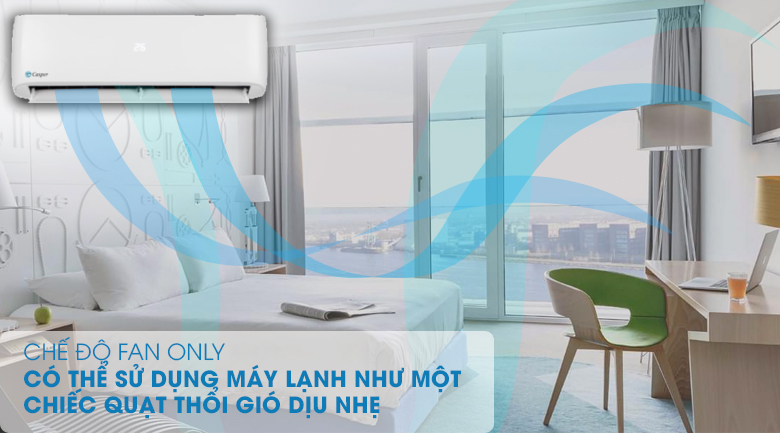 Chế độ quạt Fan Only - Máy lạnh Casper 1.5 HP LC-12TL32