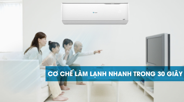 Làm lạnh 30s - Máy lạnh Casper Inverter 1.5 HP GC-12TL32