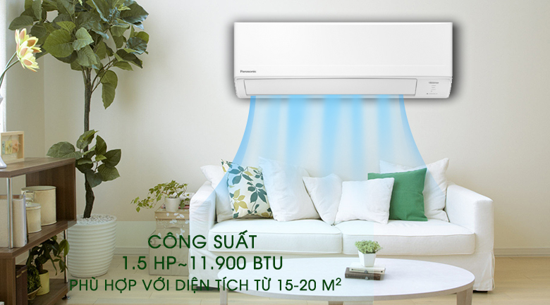 Công suất-Máy lạnh Panasonic Inverter 1.5 HP CU/CS-WPU12WKH-8M