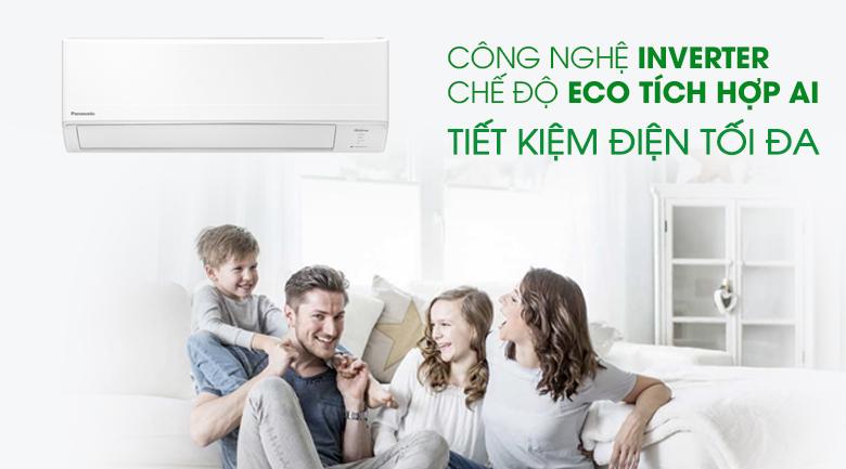 Inverter và Eco tích hợp AI Máy lạnh Panasonic Inverter 2 HP CU/CS-WPU18WKH-8M