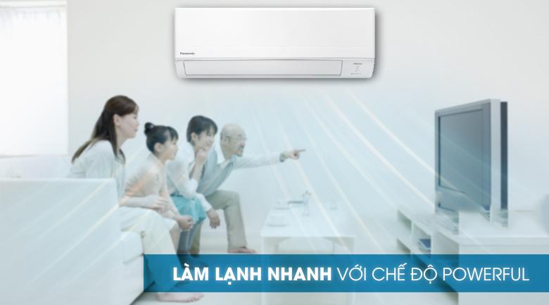 Làm lạnh nhanh-Máy lạnh Panasonic Inverter 2 HP CU/CS-WPU18WKH-8M