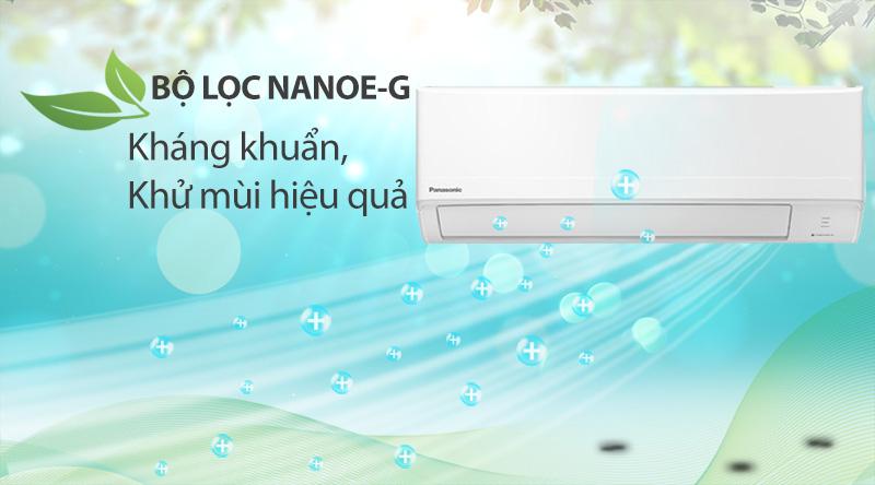 Máy lạnh Panasonic 1.5 HP CU/CS-N12WKH-8M -Kháng khuẩn, khử mùi hiệu quả với bộ lọc Nanoe-G 3 bước