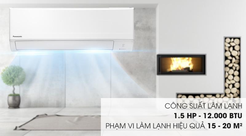 Máy lạnh Panasonic 1.5 HP CU/CS-N12WKH-8M - Công suất 1.5 HP, phù hợp cho căn phòng dưới 15 - 20 mét vuông