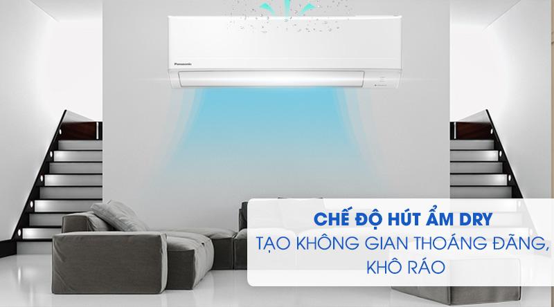 Máy lạnh Panasonic 1.5 HP CU/CS-N12WKH-8M -Không gian thoáng đãng, khô ráo nhờ chế độ hút ẩm