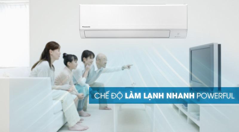 Máy lạnh Panasonic 1.5 HP CU/CS-N12WKH-8M - Làm lạnh nhanh cùng chế độ Powerful