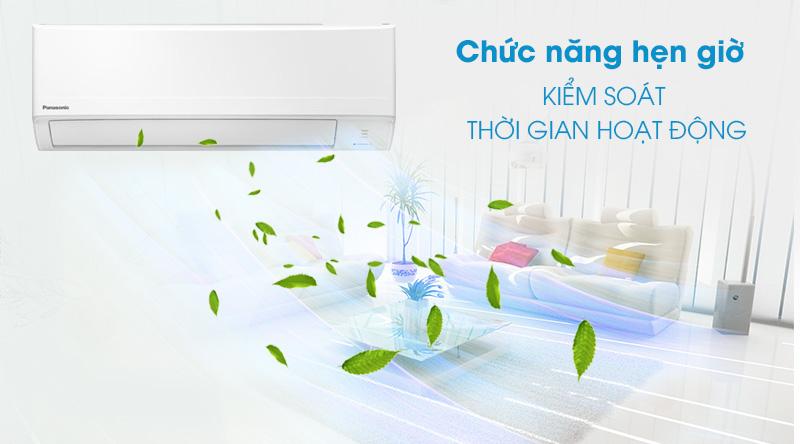 Máy lạnh Panasonic 1.5 HP CU/CS-N12WKH-8M -Tiện lợi, kiểm soát thời gian hoạt động nhờ chế độ hẹn giờ bật - tắt