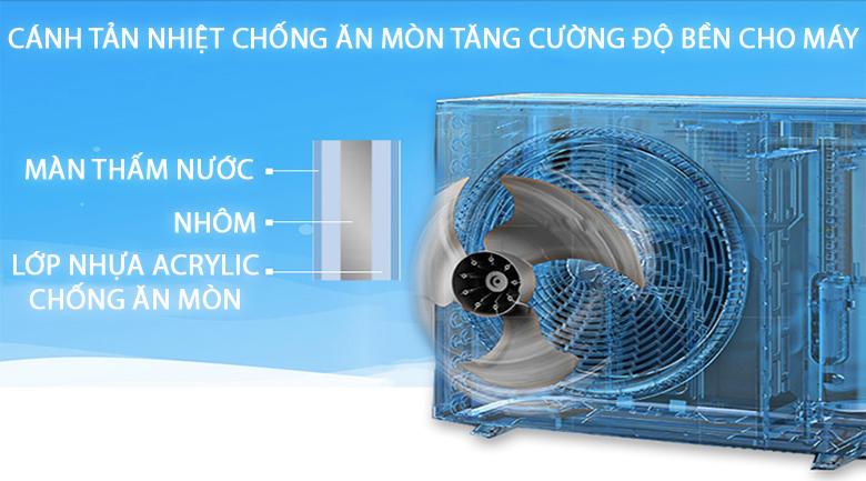 Cánh tản nhiệt chống ăn mòn - Máy lạnh Daikin Inverter 1 HP ATKA25UAVMV